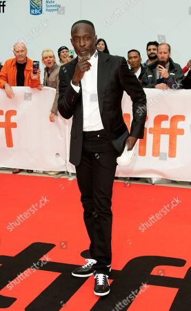 Stock Image of US actor and cast member Michael Kenneth Williams arrives for the screening of the movie 'The Public' during the 43rd annual Toronto International Film Festival (TIFF) in Toronto, Canada, 09 September 2018.