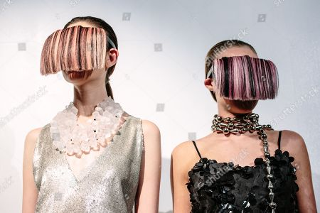 Models exhibit creations by Cesar Galindo at New York Fashion Week Spring 2019 in New York, New York, USA, 09 September 2018.