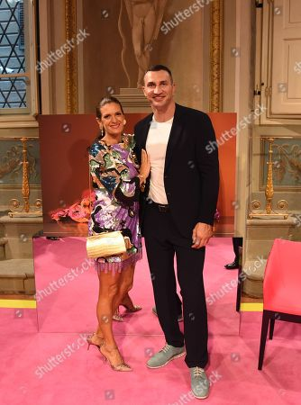 Wladimir Klitschko poses with Veronica Bocelli