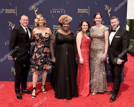 Pat King, left, Allana Harkin, Ashley Black, Melinda Taub, Alison Camillo, Miles Kahn