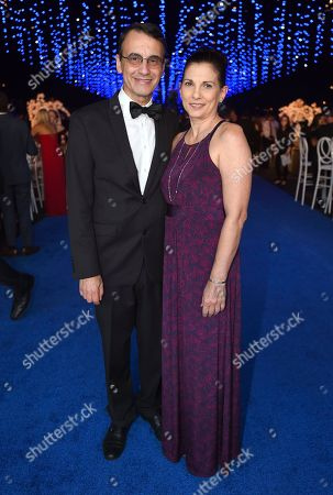 Frank Morrone, Gina Morrone. Frank Morrone, left, and Gina Morrone attend the Governors Ball during night two of the Television Academy's 2018 Creative Arts Emmy Awards at the Microsoft Theater, in Los Angeles