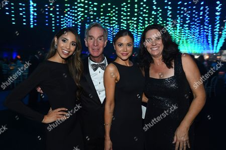 Brittany McGowan, Bill Nye, Hilary Cruz and Cathy Cruise. Brittany McGowan, from left, Bill Nye, Hilary Cruz and Cathy Cruise attend the Governors Ball during night two of the Television Academy's 2018 Creative Arts Emmy Awards at the Microsoft Theater, in Los Angeles