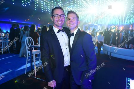 James Pearse Connelly, left, attends the Governors Ball during night two of the Television Academy's 2018 Creative Arts Emmy Awards at the Microsoft Theater, in Los Angeles