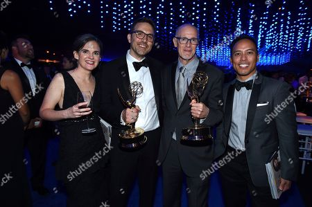 Jennifer Ardizzone-West, Jason Ardizzone-West, Neil Meron, Michael Reyna. Jennifer Ardizzone-West, Jason Ardizzone-West, Neil Meron and Michael Reyna attend the Governors Ball during night two of the Television Academy's 2018 Creative Arts Emmy Awards at the Microsoft Theater, in Los Angeles