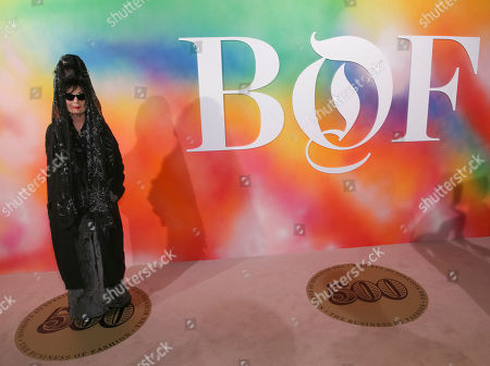 Diane Pernet attends the BoF 500 Gala held at One Hotel Brooklyn Bridge during New York Fashion Week, in New York