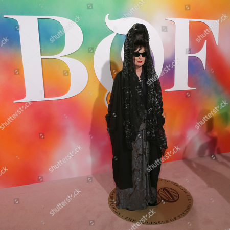 Stock Picture of Diane Pernet attends the BoF 500 Gala held at One Hotel Brooklyn Bridge during New York Fashion Week, in New York