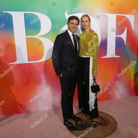 Archie Drury, Karolina Kurkova. Archie Drury, left, and Karolina Kurkova attend the BoF 500 Gala held at One Hotel Brooklyn Bridge during New York Fashion Week, in New York