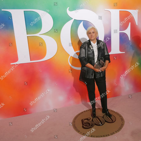 Silvia Venturini Fendi attends the BoF 500 Gala held at One Hotel Brooklyn Bridge during New York Fashion Week, in New York