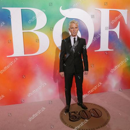 Drew Elliott attends the BoF 500 Gala held at One Hotel Brooklyn Bridge during New York Fashion Week, in New York
