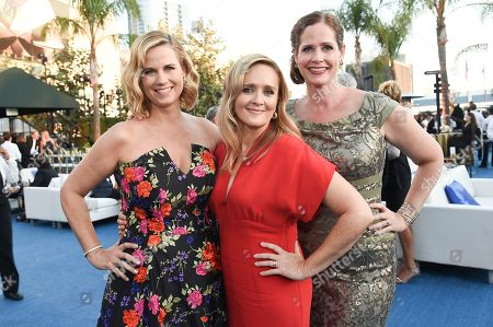 Allana Harkin, Samantha Bee, Alison Camillo. Allana Harkin, from left, Samantha Bee and Alison Camillo attend the Governors Ball during night two of the Television Academy's 2018 Creative Arts Emmy Awards at the Microsoft Theater, in Los Angeles
