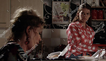 Ep 9569 Monday 24th September 2018 - 2nd Ep Liz McDonald, as played by Beverley Callard, tells Hannah, as played by Hannah Ellis Ryan, can only raise £10k.