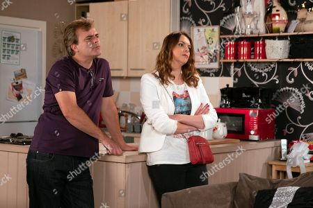 Ep 9567 Friday 21st September 2018 - 2nd Ep Following her collapse Liz McDonald, as played by Beverley Callard, asks Hannah, as played by Hannah Ellis Ryan, to move in with her so she can take care of her. Tracy Barlow, as played by Kate Ford, is less than impressed.
