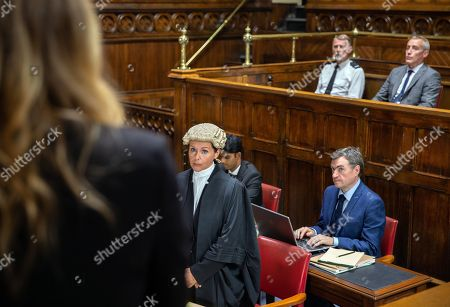 Stock Image of Ep 8255 & 8256 Tuesday 11th September 2018 Charity Dingle, as played by Emma Atkins, takes to the stand and explains her history and how Bails, as played by Rocky Marshall, and won her trust as she recalls the past. Charity continues to answer the defence's questions and, although buoyed to see Ryan and Noah, she's left feeling like she's blown it.