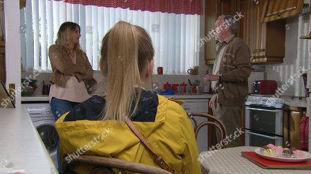 Stock Picture of Ep 8269 Wednesday 26th September 2018 Charity Dingle, as played by Emma Atkins, visit her dad Obadiah, as played by Paul Copley, but will the meeting go well or will she regret letting Obadiah back into her life?