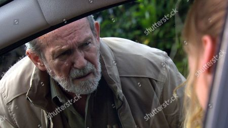 Stock Image of Ep 8269 Wednesday 26th September 2018 Charity Dingle, as played by Emma Atkins, visit her dad Obadiah, as played by Paul Copley, but will the meeting go well or will she regret letting Obadiah back into her life?