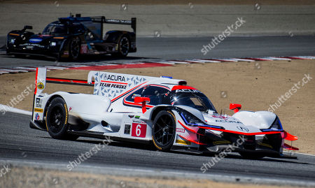 Monterey, CA, U.S.A. # 6 Drivers Dana Cameron / Juan Pablo Montoya finish 3rd with a fast lap time 1:17.942 coming out of turn 2 during the American's Tire 250 Race for the IMSA Weathertech Sport Car Championship at Weathertech Raceway Laguna Seca Monterey, CA Thurman James / CSM