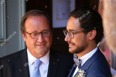 Editorial image of Thomas Hollande and Emilie Broussouloux wedding, Meyssac, France - 08 Sep 2018