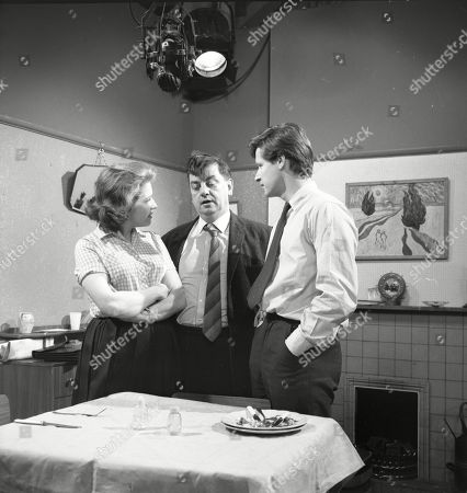 Anne Reid (as Valerie Barlow), Frank Pemberton (as Frank Barlow) and William Roache (as Ken Barlow)