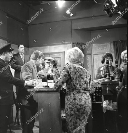 Ivan Beavis (as Harry Hewitt), Frank Pemberton (as Frank Barlow), Peter Adamson (as Len Fairclough), Jack Howarth (as Albert Tatlock), Doris Speed (as Annie Walker) and Eileen Derbyshire (as Emily Nugent)