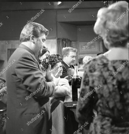 Peter Adamson (as Len Fairclough), Susan Jameson (as Myra Booth), Lynne Carol (as Martha Longhurst), Graham Haberfield (as Jerry Booth) and Doris Speed (as Annie Walker)