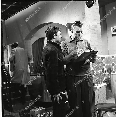 Philip Lowrie (as Dennis Tanner) and Alister Williamson (as Gus Lowman)