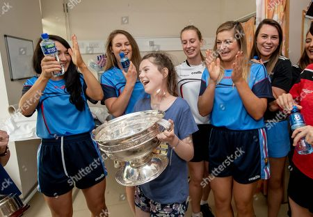 Editorial image of 2018 Liberty Insurance All Ireland Senior Camogie Champions Cork Visit Our Lady's Children's Hospital, Crumlin, Dublin  - 10 Sep 2018