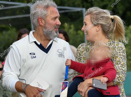Sam Mendes with his wife Alison Balsom and their one year old daughter Phoebe Mendes