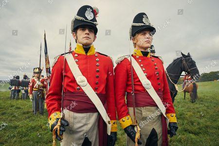 Charlie Rowe as George Osborne and Johnny Flynn as William Dobbin.