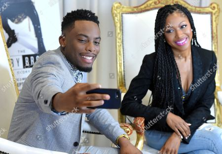 Woody McClain and Gabrielle Dennis promote the release of the 'The Bobby Brown Story' ahead of its screening on BET