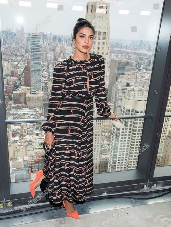 Priyanka Chopra attends the Longchamp show during Fashion Week on in New York
