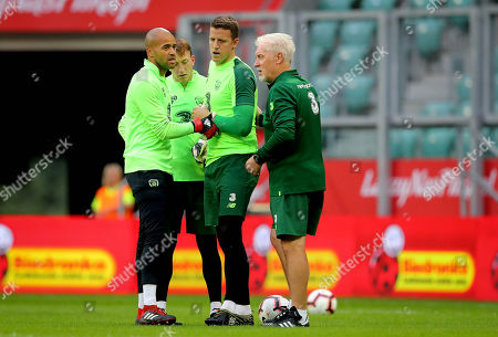 Goalkeepers Darren Randolph, Sean McDermott and Colin Doyle with goalkeeper coach Seamus McDonagh