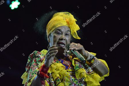 Stock Photo of Colombian artist Toto La Momposina performs at the VII Jazz Festival held in Mompox, Colombia, 08 September 2018 (issued 10 September 2018).