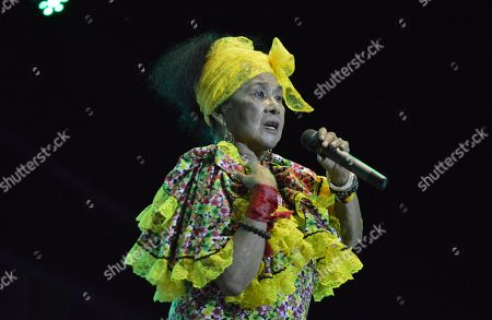 Stock Picture of Colombian artist Toto La Momposina performs at the VII Jazz Festival held in Mompox, Colombia, 08 September 2018 (issued 10 September 2018).