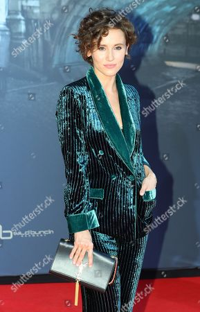 German actress Peri Baumeister poses on the red carpet prior the movie premiere of 'Mackie Messer - Brechts Dreigroschenfilm' (lit. Mack the Knife - Brecht's Threepenny Film) in Berlin, Germany, 10 September 2018. The movie opens across German theaters on 13 September.