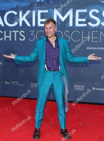 German actor Robert Stadlober poses on the red carpet prior the movie premiere of 'Mackie Messer - Brechts Dreigroschenfilm' (lit. Mack the Knife - Brecht's Threepenny Film) in Berlin, Germany, 10 September 2018. The movie opens across German theaters on 13 September.