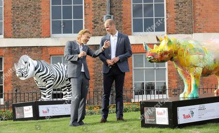 Prince William talks to artist Harland Miller