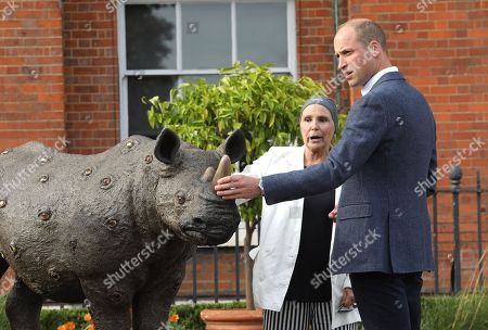 Editorial picture of Tusk Rhino Trail event at Kensington Palace Gardens, London, UK - 10 Sep 2018