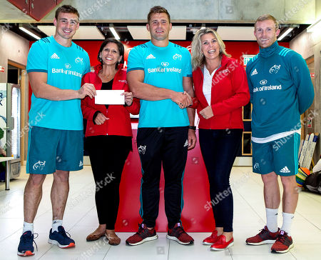 Editorial image of Munster Rugby & Irish Heart Foundation Cheque Presentation, Limerick  - 10 Sep 2018