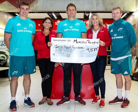 Editorial picture of Munster Rugby & Irish Heart Foundation Cheque Presentation, Limerick  - 10 Sep 2018