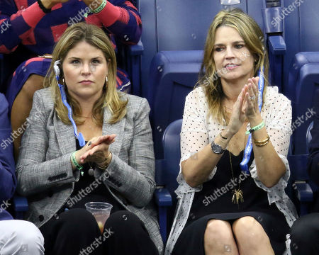 Jenna Bush Hager, Savannah Guthrie. Jenna Bush Hager, left, and Savannah Guthrie attend the men's finals of the U.S. Open tennis tournament at the USTA Billie Jean King National Tennis Center, in New York