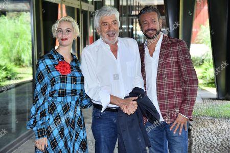 Stock Photo of Francesca Inaudi Gigi Proietti and Sergio Assisi