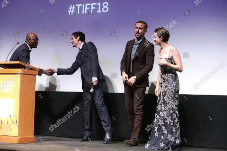 Cameron Bailey, TIFF Artistic Director & Co-Head, Damien Chazelle, Director/Producer, Ryan Gosling, Claire Foy