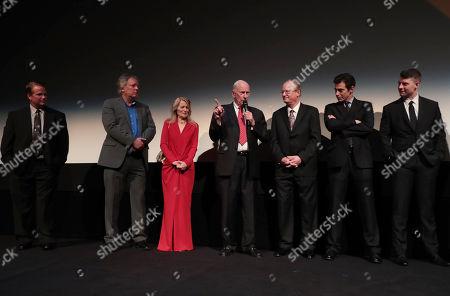 Mark Armstrong, Rick Armstrong, Bonnie Baer, Al Worden, James R. Hansen, Author, Josh Singer, Writer/Executive Producer, Patrick Fugit