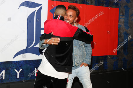 Christian Combs and Lewis Hamilton