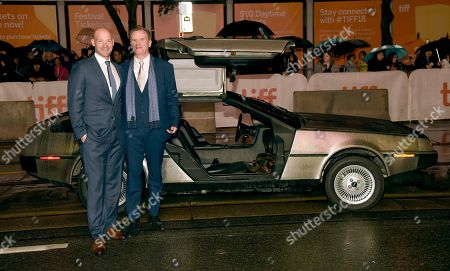 """Corey Stoll, Nick Hamm. Corey Stoll, left, and director Nick Hamm attend the premiere for """"Driven"""" on day 5 of the Toronto International Film Festival at the Princess of Wales Theatre, in Toronto"""
