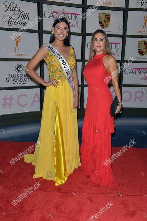 Miss World Peru 2018 Estefani Mauricci and Adriana De Moura