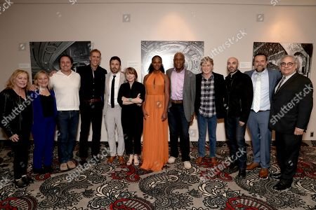 Stock Photo of Chairman of Fox Searchlight Nancy Utley, Julie Goldstein, Jeremy Steckler, James D. Stern, Casey Affleck, Sissy Spacek, Tika Sumpter, Danny Glover, Robert Redford, David Lowery, Anthony Mastromauro, Fox Searchlight Chairman Steve Gilula
