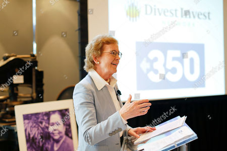 Former President of Ireland Mary Robinson speaks about climate justice at the Fossil Fuel Divestment State of the Movement event, in San Francisco