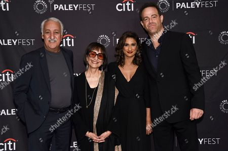 "Brian George, Madhur Jaffrey, Sarayu R. Blue, Paul Adelstein. Brian George, from left, Madhur Jaffrey, Sarayu R. Blue and Paul Adelstein attend the 2018 PaleyFest Fall TV Previews ""I Feel Bad"" at The Paley Center for Media, in Beverly Hills, Calif"