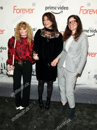 "Natasha Lyonne, Catherine Keener, Jamie Babbit. Natasha Lyonne, from left, Catherine Keener and Jamie Babbit attend a premiere screening of the Amazon Original Series ""Forever"" at The Whitby Hotel, in New York"